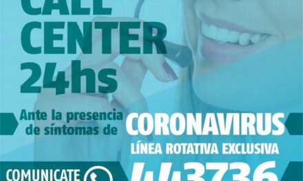 Zarate informa que la Linea Call Center (COVID-19) se mantiene activa las 24 hs del dia
