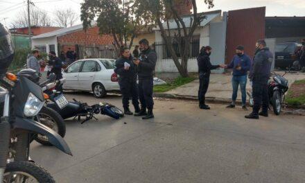 Accidente en el barrio Villanueva: dos heridos