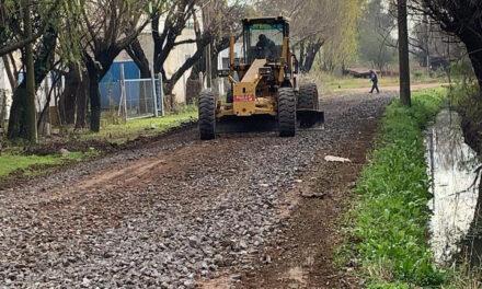 Continúan los trabajos para mejorar la zona de Pymes locales