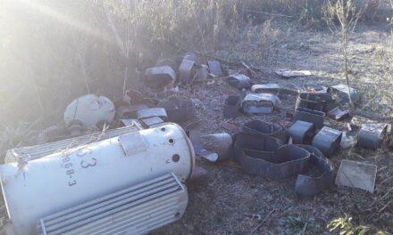 Las Acacias:vuelven a vandalizarla luminaria de la rotonda de Ruta 6