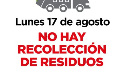Este lunes 17 no habrá recolección de residuos