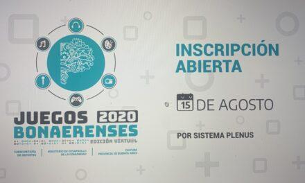 Comienza la inscripción a la edición virtual de los Juegos Bonaerenses 2020