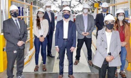 El Ministro de Transporte Mario Meoni visito la Planta Toyota