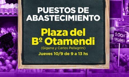 Los puestos de abastecimiento llegan a la plaza del barrio Otamendi