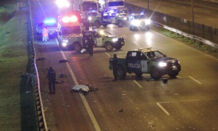 Accidente fatal e incendio en ruta Panamericana Km 71