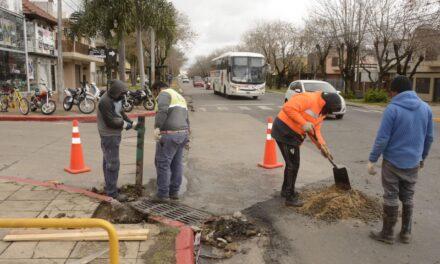 El Municipio inició un plan de reparación de bocas de tormenta en el casco urbano