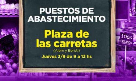 Por primera vez, los puestos de abastecimiento llegan a la Plaza de las Carretas