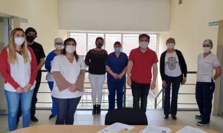 El Intendente sigue acompañando al personal de salud