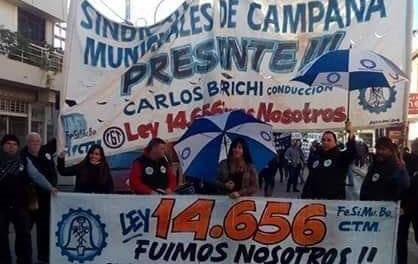 El Sindicato de Trabajadores Municipales de Campana saluda a los empleados en su dia.