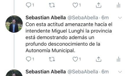"""Los intendentes somos los que estamos en contacto con el vecino en la diaria y la Provincia debe respetar eso"""", aseguró Abella"""