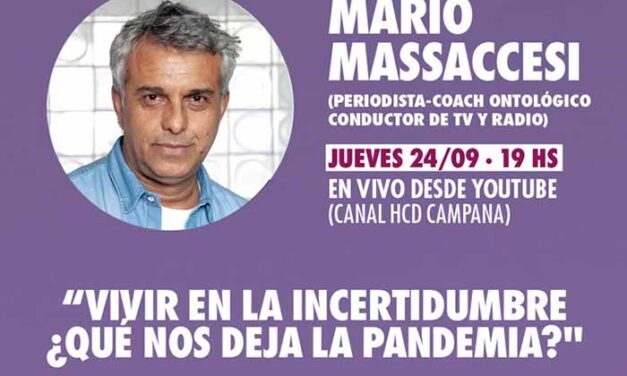 Con Mario Massaccesi, el HCD realizará una nueva charla abierta online