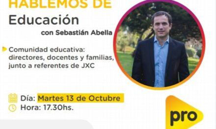 Abella brindará una charla virtual sobre educación
