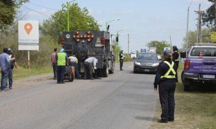 El Municipio volvió a reparar los baches de ruta 4