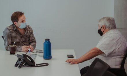 Abella se reunió con el presidente de la Asociación de Bomberos Voluntarios