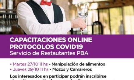 Continúa la inscripción a los cursos online sobre protocolos Covid-19 – Servicio de Restaurantes