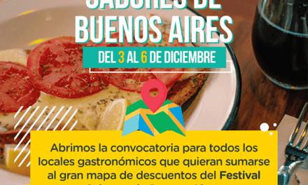 Convocan a locales gastronómicos a participar del Festival Sabores de Buenos Aires