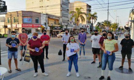 Jóvenes de Campana realizaron una campaña de concientización sobre violencia de género