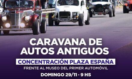 Invitan a participar de una caravana de autos antiguos por la Fiesta del Automóvil