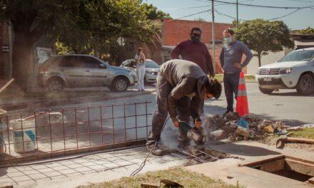 El Municipio repara tapas de bocas de tormenta en distintos puntos de la ciudad
