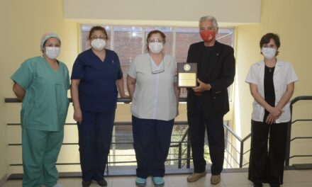 Desde la Secretaría de Salud agradecieron el reconocimiento otorgado por el Rotary Club Campana