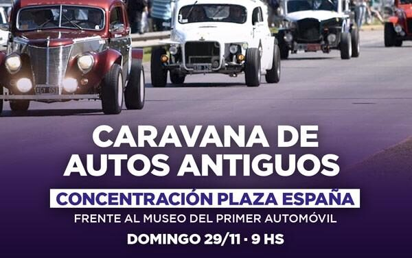 Mañana se realizará una caravana de autos antiguos por la Fiesta del Automóvil