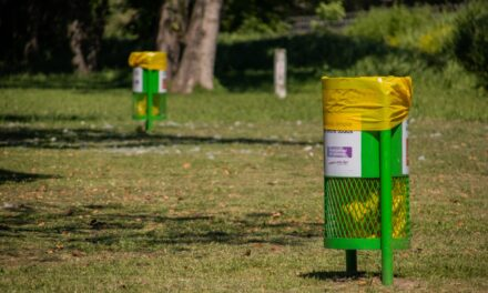 Instalan cestos de residuos en espacios públicos de la ciudad