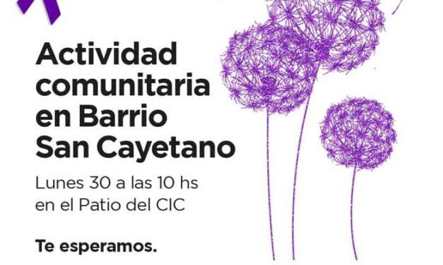 El lunes se realizará una actividad comunitaria en San Cayetano