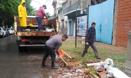 Realizan tareas de limpieza en toda la ciudad tras la tormenta