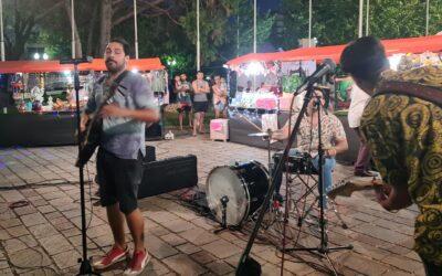 Los campanenses vivieron otro fin de semana de gastronomía y música en la plaza Eduardo Costa