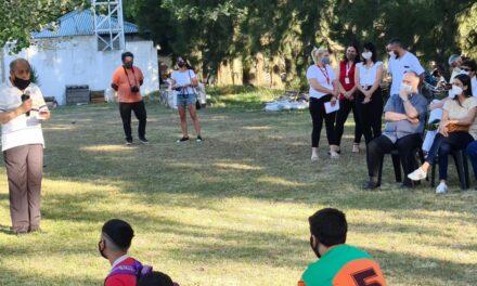 Elisa Abella acompañó el acto de cierre de año de las actividades de la Casa de Día Padre Aníbal