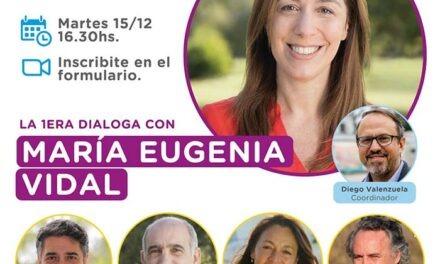 Vecinos podrán dialogar este martes con María Eugenia Vidal