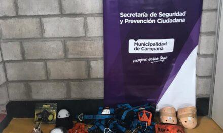 Defensa Civil Campana agradeció la importante donación de Carboclor