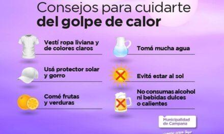 Brindan recomendaciones ante la ola de calor