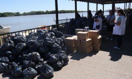 SAE: el Municipio también coordinó la entrega de alimentos en la isla