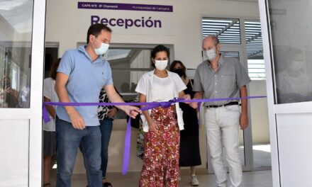 El Intendente inauguró el nuevo y moderno edificio del centro de salud de Otamendi