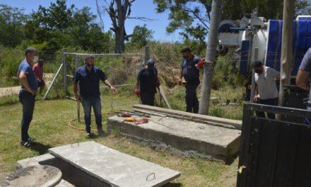 Reparan la planta de tratamiento cloacal en el barrio Los Pioneros