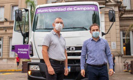 El Municipio sumó un camión volcador a su flota de vehículos