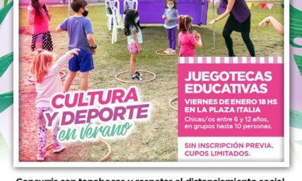 Las juegotecas educativas llegan este viernes a la plaza Italia