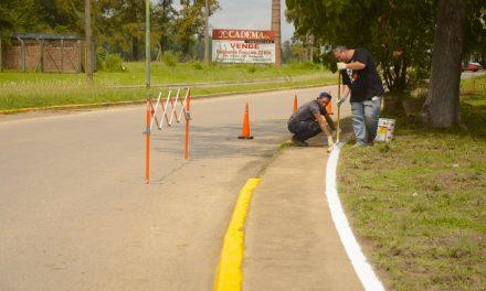 Importantes trabajos de señalización y puesta en valor de la avenida 6 de Julio