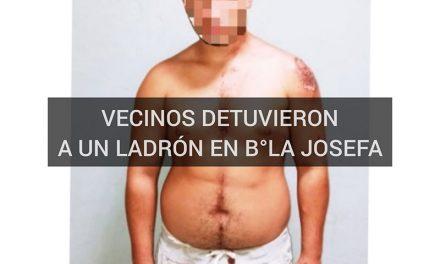 VECINOS DEL B° LA JOSEFA DETUVIERON A UN LADRÓN LUEGO DE UN ROBO A MANO ARMADA.