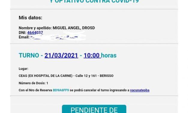 Denuncian que la provincia de Buenos Aires le dio turno para vacunarse a un hombre que murió hace 11 años