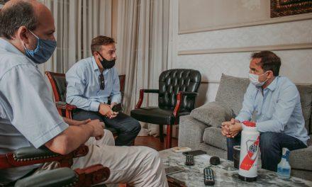 El Intendente se reunió con el nuevo gerente local del banco Santander