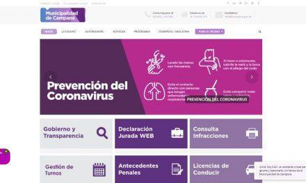 La página web del Municipio suma tecnología para brindar un mejor servicio a los vecinos