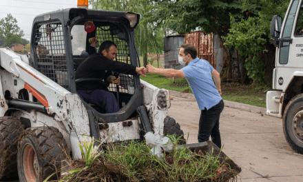 ESPACIO PÚBLICO: REALIZAN NUEVAS TAREAS DE MANTENIMIENTO INTEGRAL