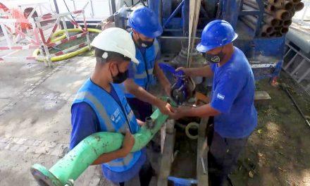 Comenzaron las obras de nuevas perforaciones de  agua en Campana