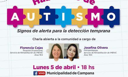 """Este lunes se presentará en vivo la charla """"Hablemos de autismo"""""""
