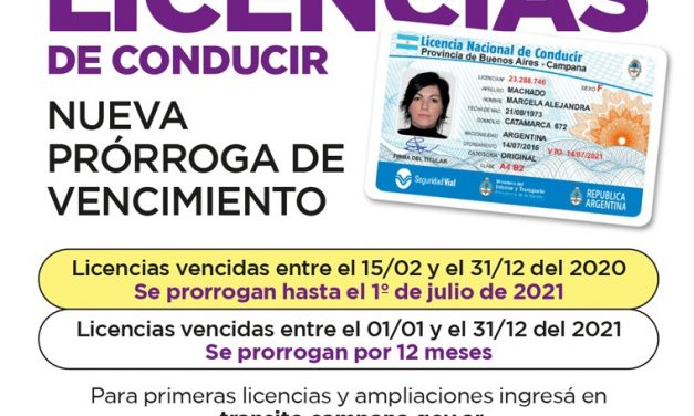 Informan nueva prórroga para las Licencias de Conducir