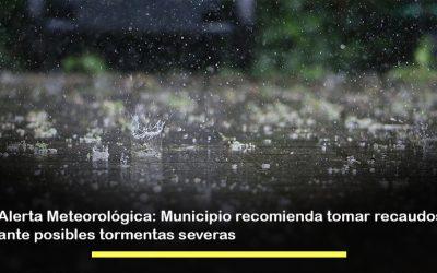 Alerta Meteorológica: Municipio recomienda tomar recaudos ante posibles tormentas severas