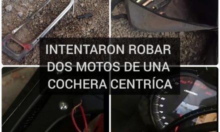 INTENTARON ROBAR DOS MOTOS DE UNA COCHERA CENTRÍCA