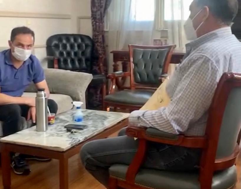 Abella se reunió con el Secretario General del Centro de Empleados de Comercio
